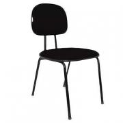 Cadeira Fixa de Escritório Secretária Estofada