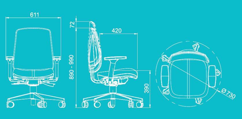 Cadeira Escritório Tela Mesh Diretor Braços Reguláveis
