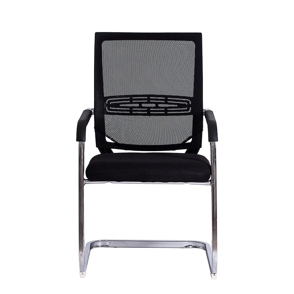 Cadeira Escritório Fixa Executiva Encosto em Tela Cromado
