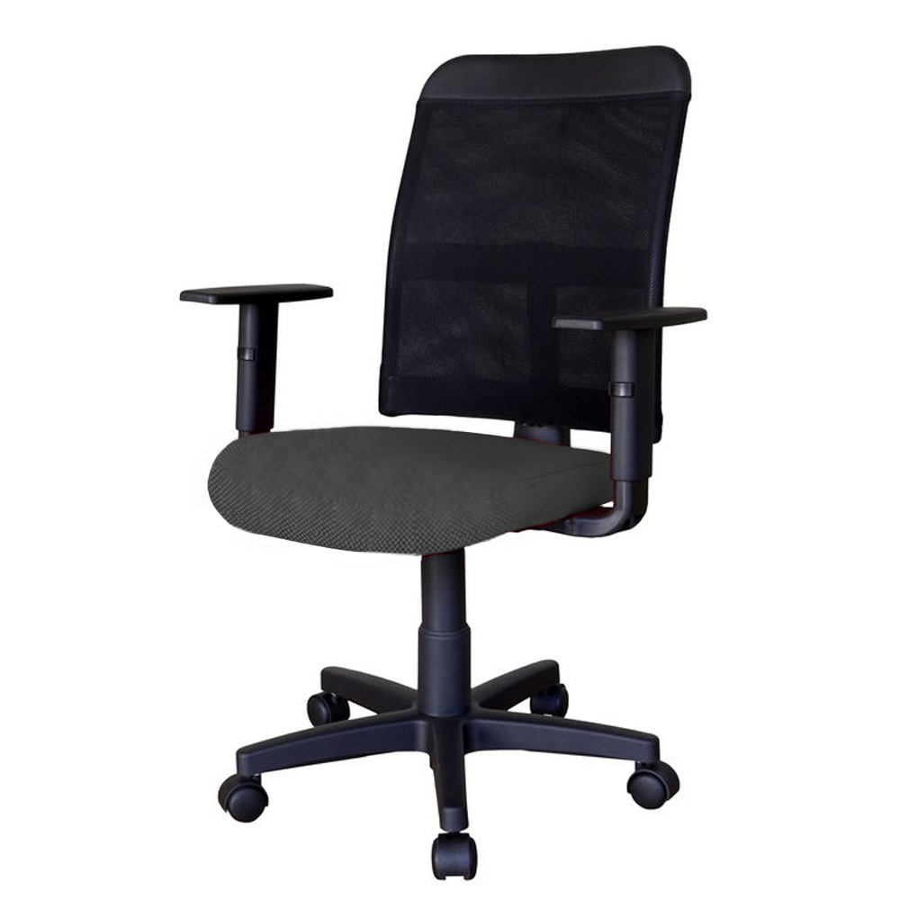 Cadeira Escritório Giratória Diretor Assento Estofado Encosto em Tela