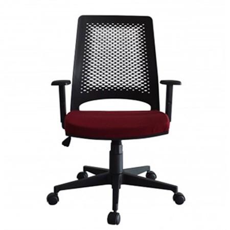 Cadeira Escritório Giratória Diretor Braços Reguláveis Preta