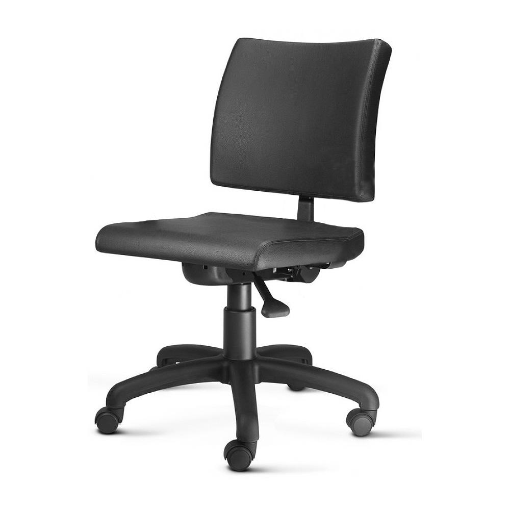 Cadeira Escritório Giratória  Executiva Sem Braço Estofada