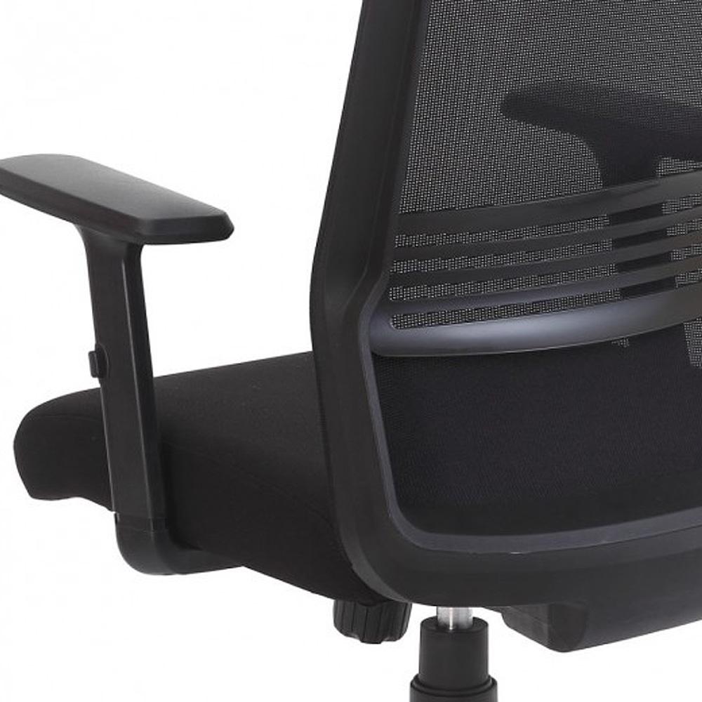 Cadeira Escritório Giratória Presidente com Encosto de Cabeça Preto