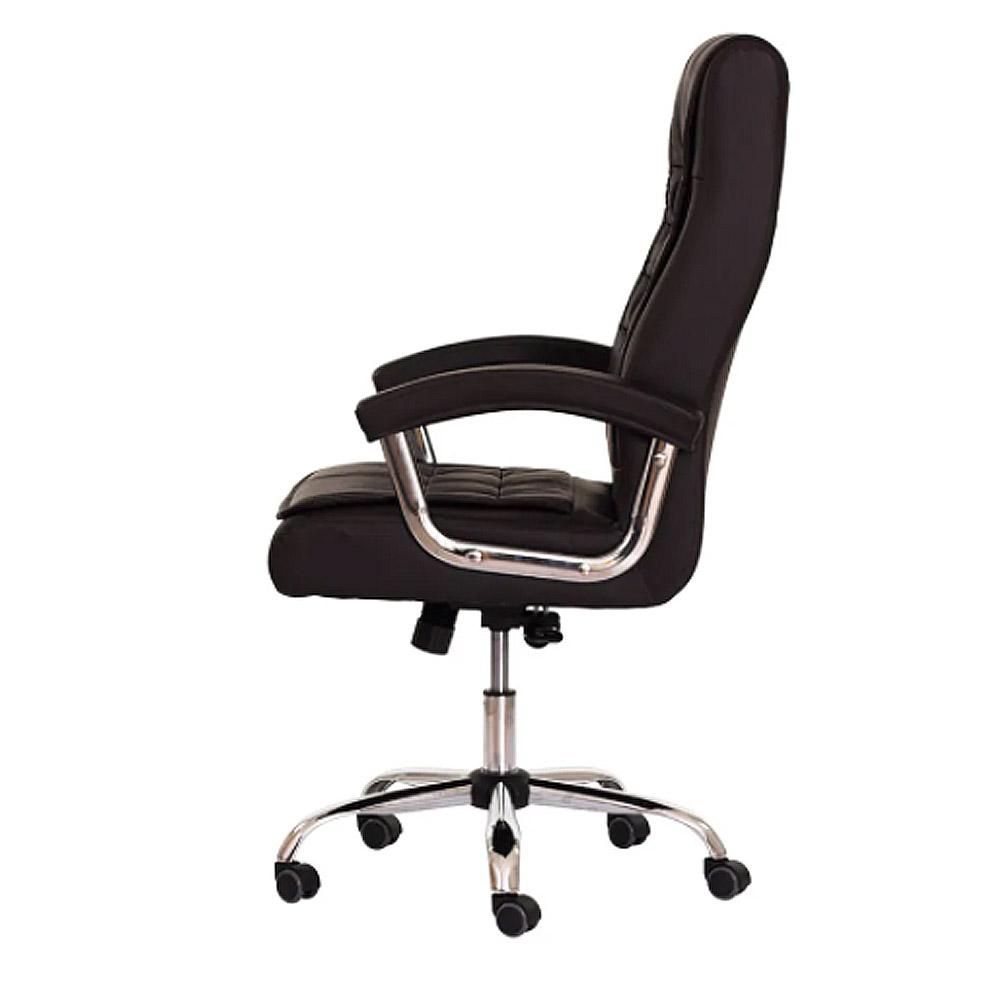 Cadeira Escritório Giratória  Presidente Concha Assento Syncron Cromado