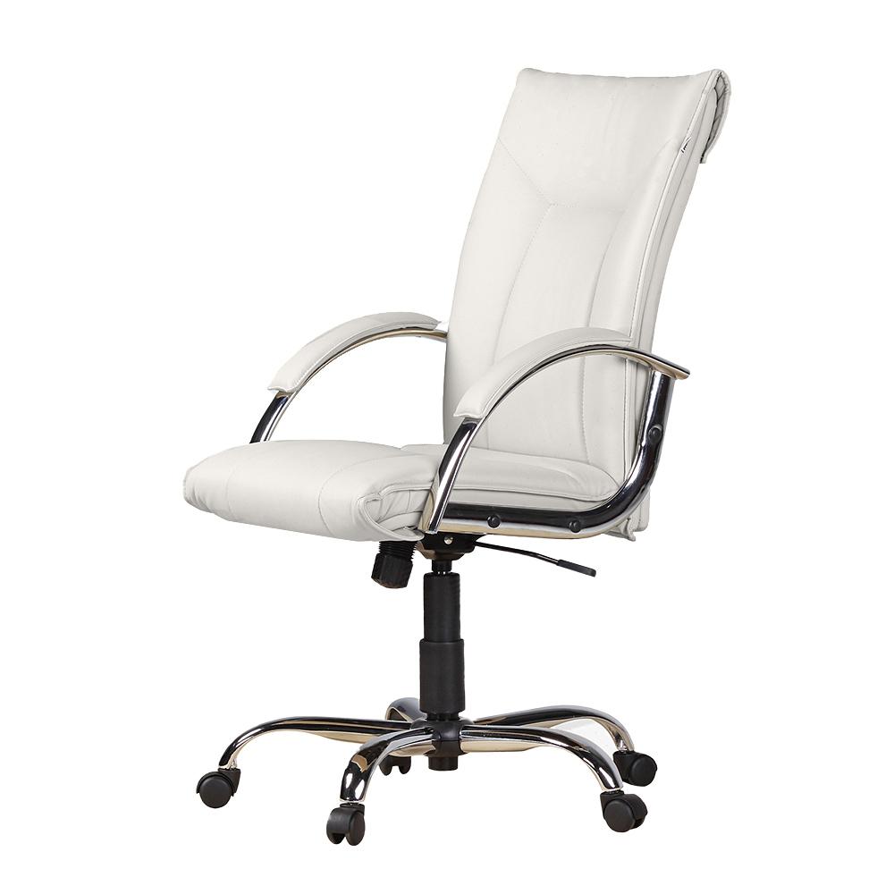 Cadeira Escritório Giratória Presidente Concha Braços Estofados