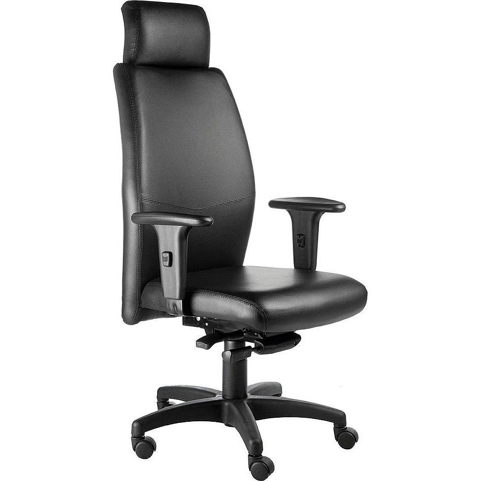 Cadeira Escritório Giratória  Presidente Concha com Encosto de Cabeça