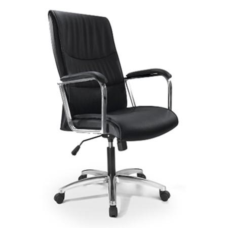Cadeira Escritório Giratória Presidente Concha Cromada