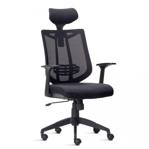 Cadeira Escritório Giratória  Presidente Encosto de Cabeça Apoio de Lombar