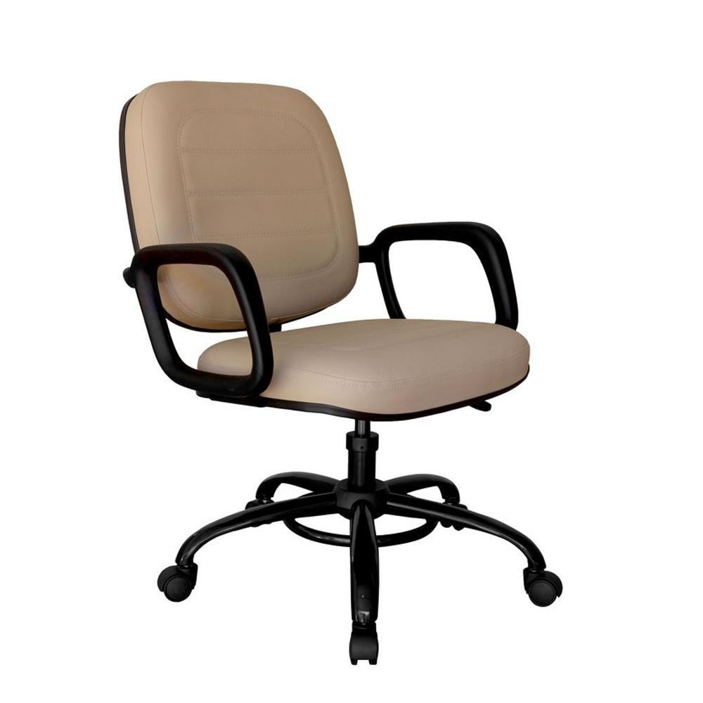 Cadeira Escritório Giratória Reforçada Suporta 140Kg Diretor Extra