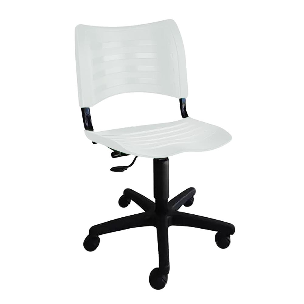 Cadeira Escritório Giratória Secretária Sem Braço em Polipropileno