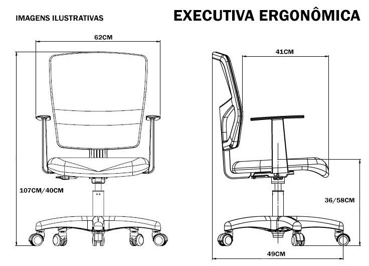 Cadeira Escritório Ergonômica Executiva