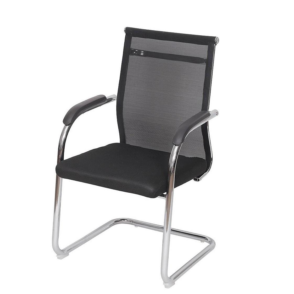 Cadeira fixa de escritório diretor encosto em tela