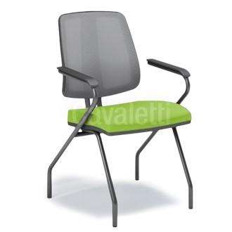 Cadeira Fixa de Escritório Encosto em tela Cavaletti