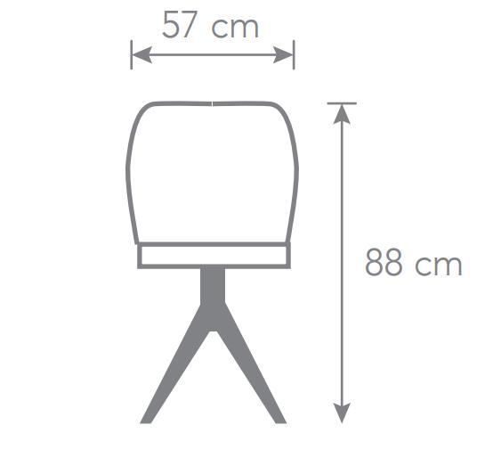 Cadeira Fixa de Escritório Poltrona Giratória