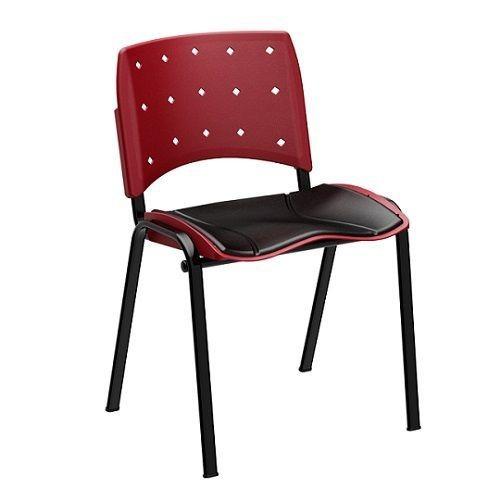 Cadeira Fixa de Escritório Secretária Polipropileno
