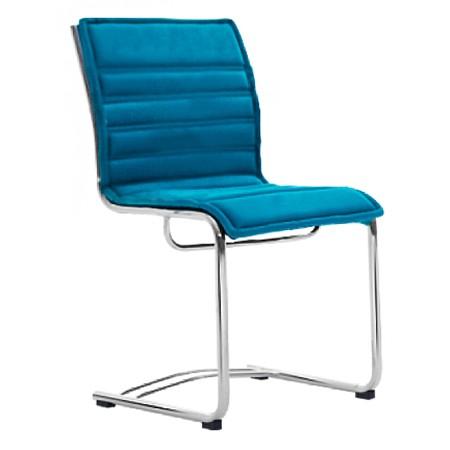 Cadeira Fixa de Escritório Sem Braços Estofado Removivel