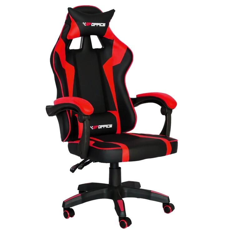 Cadeira Gamer em Couro Ecológico e Encosto Relex