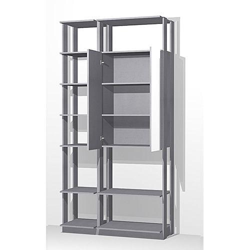 Closet com 1 Armário com Espelho e Prateleiras