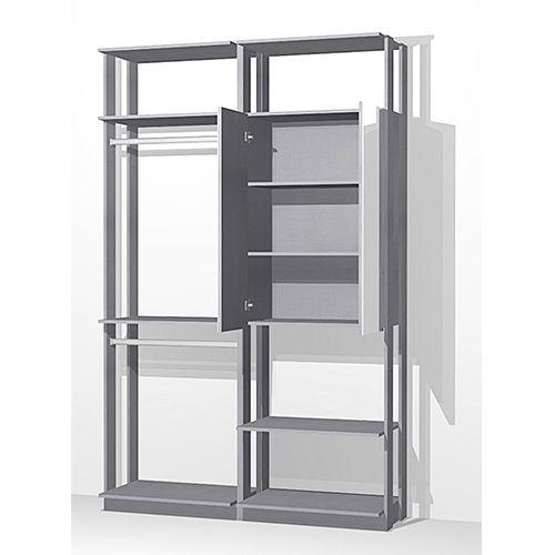 Closet com 1 Armário Espelho e 2 Cabideiros