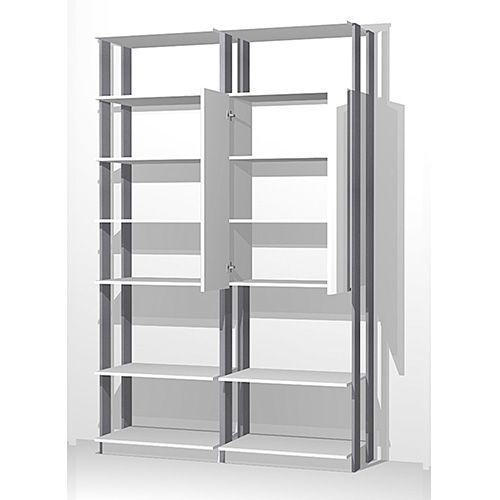 Closet Alto com 1 Armário Espelho e Prateleiras