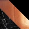 Marquina Com Preto Fosco/Estrutura Em Metal Cobre