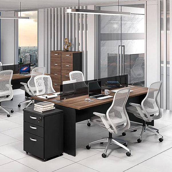 Mesa Escritório Componível Central 1200 x 1320