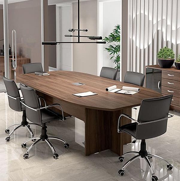 Mesa Escritório Reunião Semi Oval 2400x1200