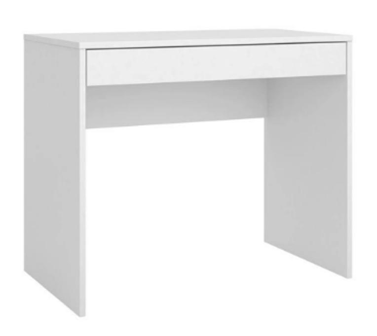 Mesa Escrivaninha Branca Compacta