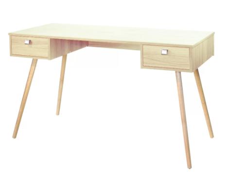 Mesa Escrivaninha 2 Gavetas Pé Palito