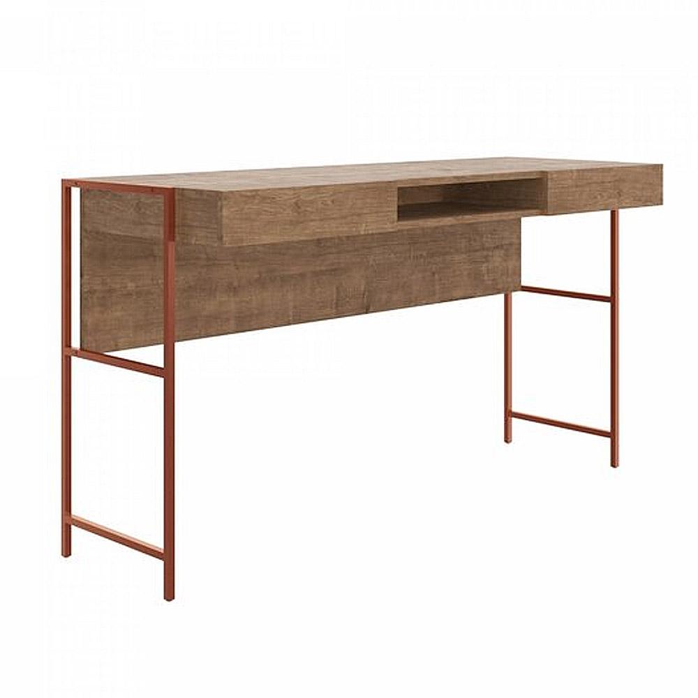 Mesa Escrivaninha Estilo Industrial 2 Gavetas 1930 mm