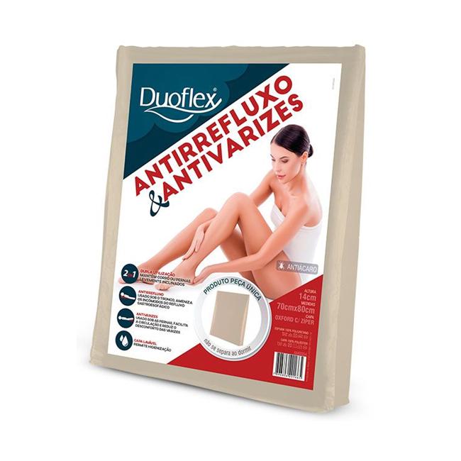 Almofada Duoflex 2 em 1 Antirrefluxo & Antivarizes 70x80x14
