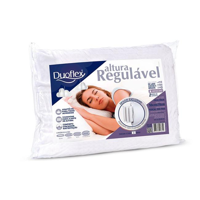 Travesseiro Duoflex Altura Regulável Espuma - 50x70 - 10 a 20 cm