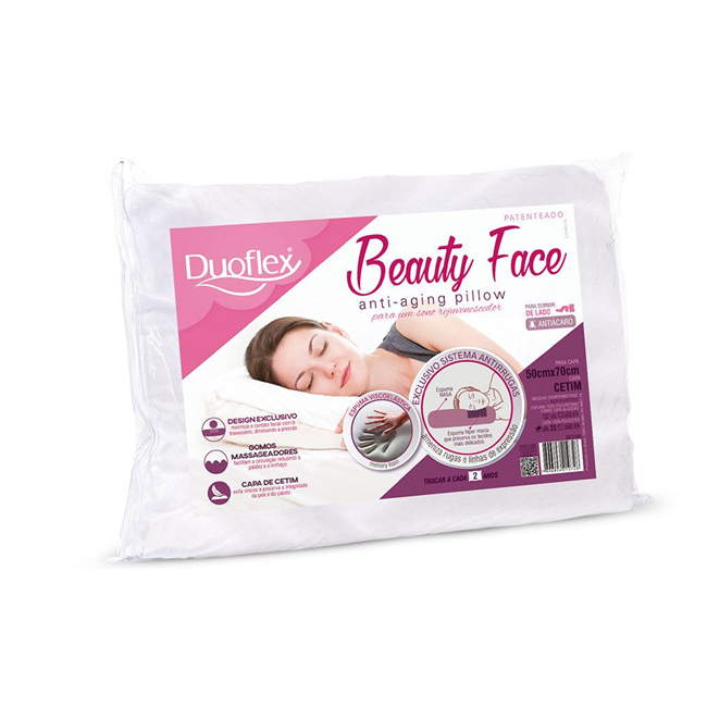 Travesseiro Duoflex Anti-Rugas Beauty Face - 50x70