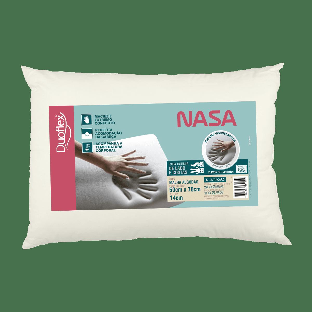 Travesseiro Duoflex Nasa Baixo 50x70x14 NS1118 ENR