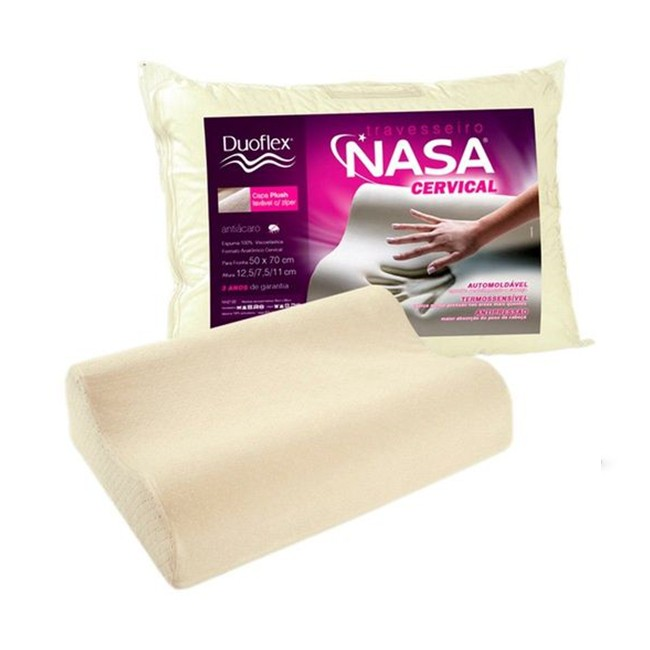 Travesseiro Duoflex Nasa Cervical 50x70 - 12,5x7,5x11