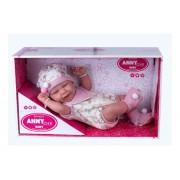 Boneca Anny Doll Baby Menina com Macacão - Cotiplás