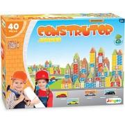 Jogo Construtor 40 Peças em Madeira