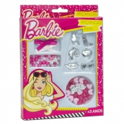 Kit De Miçangas Rosa Da Barbie Para Criar Bracelete