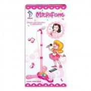 Microfone Infantil Rosa com Pedestal