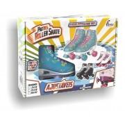 Patins Fênix Brinquedos Roller Skate - Azul/Rosa