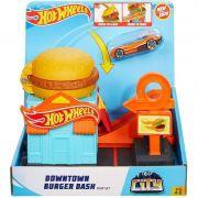 Pista Hot Wheels City Downtown Loja de Hambúrguer - Mattel