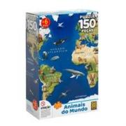 Quebra Cabeça Puzzle 150 Peças Animais do Mundo