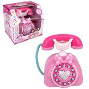 Telefone Classico Menininha Fone Com Som E Luz