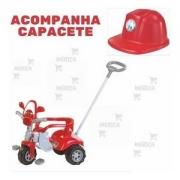 Triciclo Tico-tico Zoom Bombeiro com Capacete