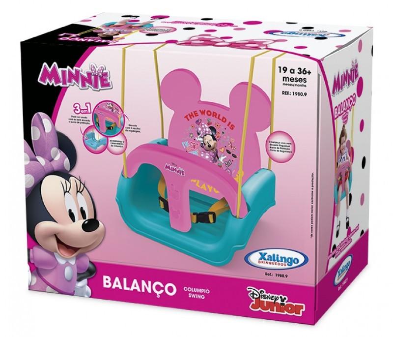 Balanço Infantil com Encosto Ajustável - Disney - Minnie Mouse - Xalingo