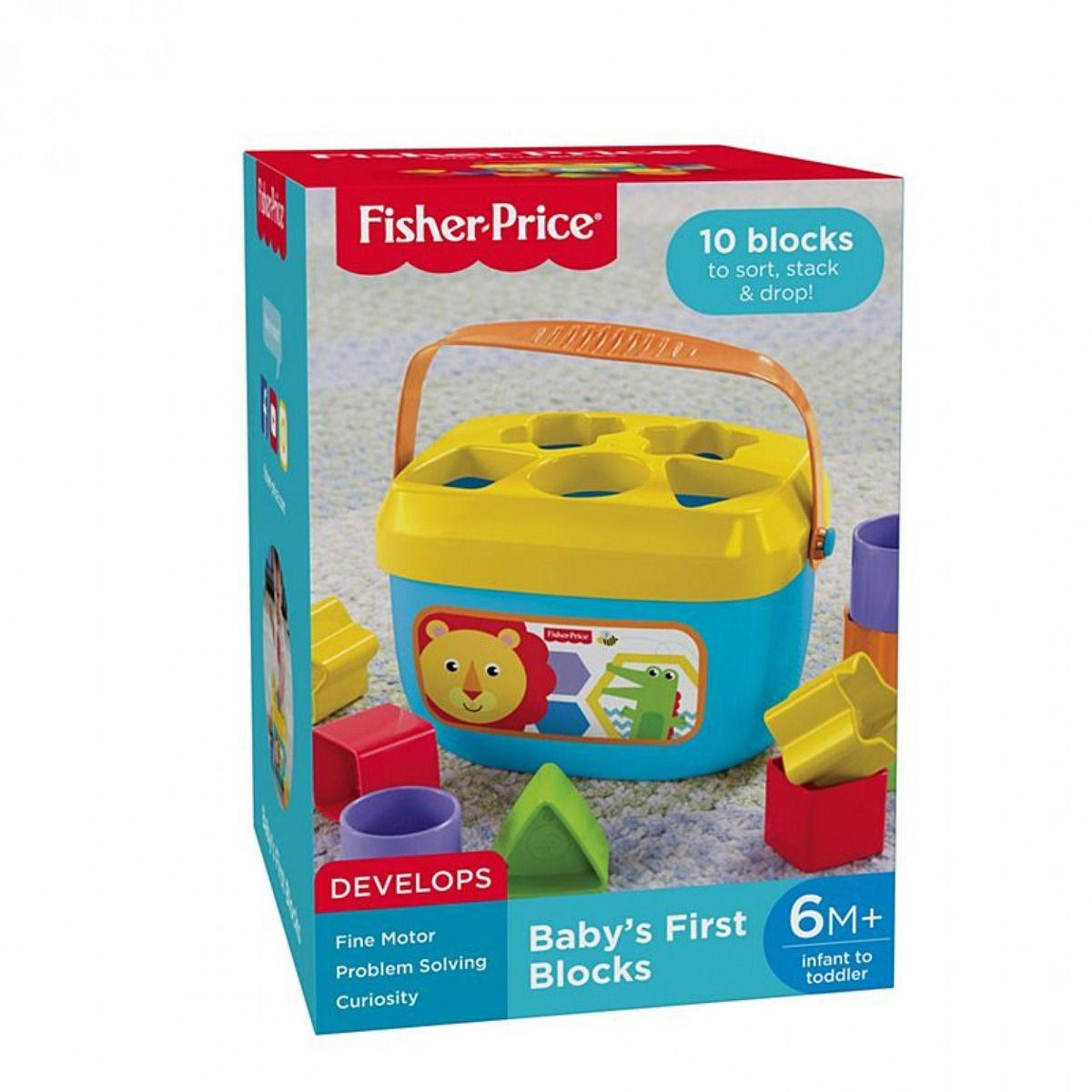 Balde Primeiros Blocos - Fisher Price