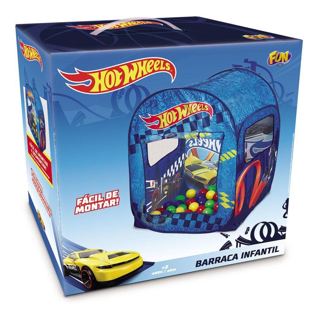 Barraca Infantil com 50 Bolinhas Hot Wheels Azul