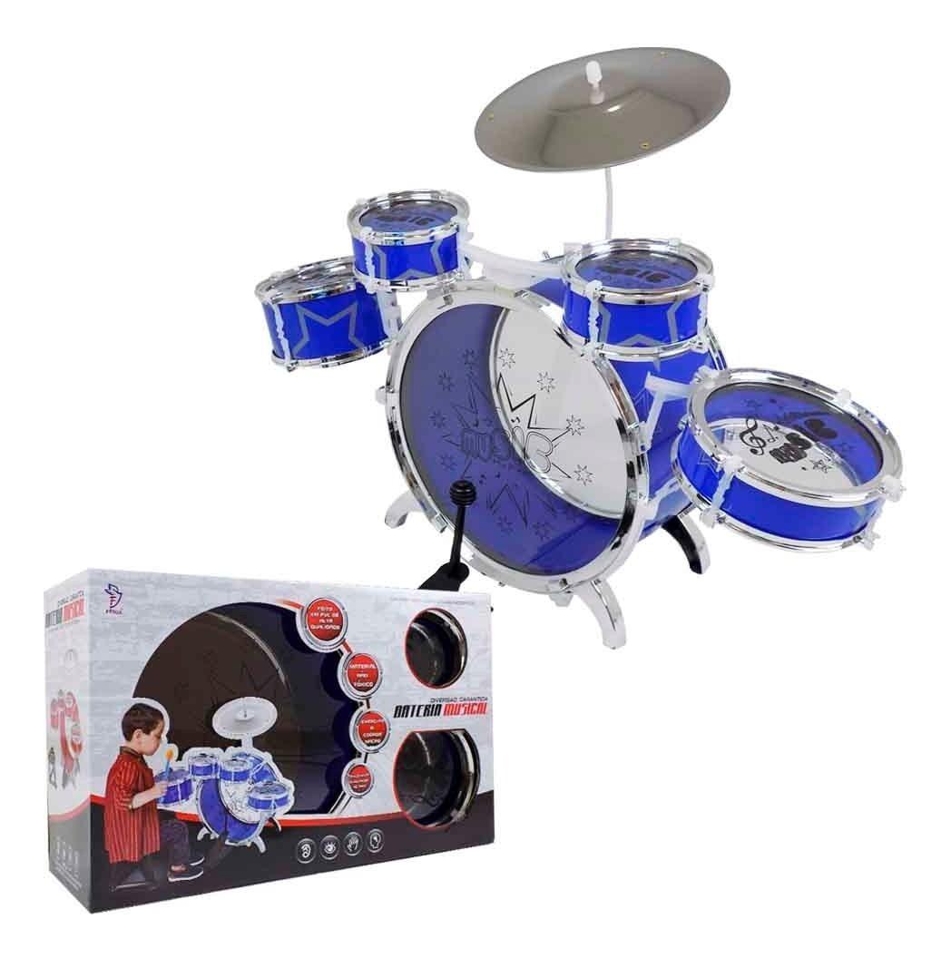 Bateria Musical Média Azul