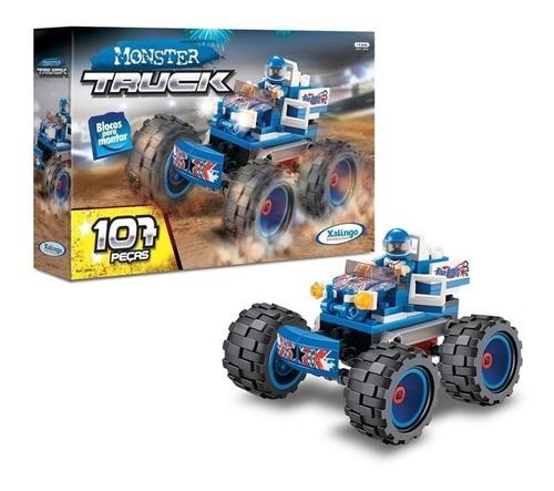 Blocos de Montar - Monster Truck - 107 Peças - Xalingo