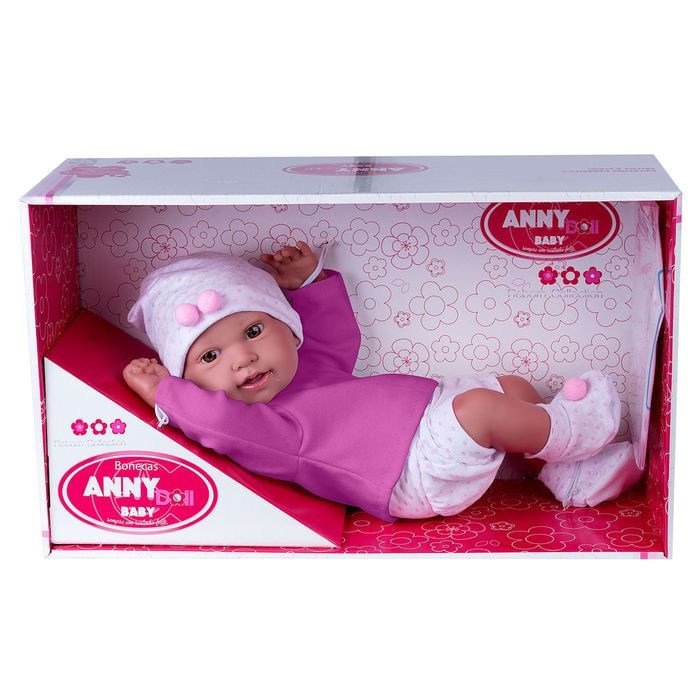 Boneca Anny Doll Baby Menina Reborn Shorts E Blusa - Cotiplás